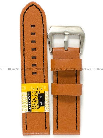 Pasek skórzany do zegarka - Diloy 384.24.3.1 - 24 mm