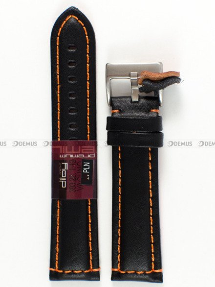 Pasek skórzany do zegarka - Diloy 393.22.1.12 - 22 mm
