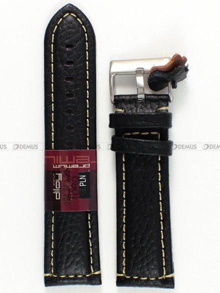 Pasek skórzany do zegarka - Diloy 394.24.1.22 - 24 mm