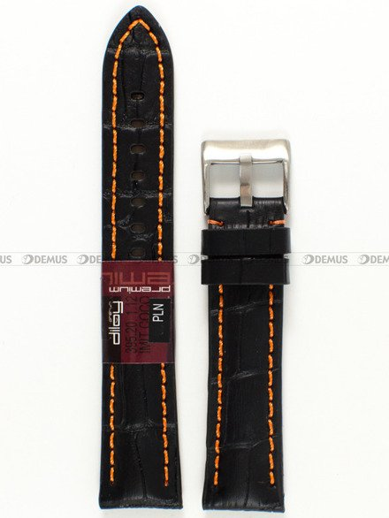Pasek skórzany do zegarka - Diloy 395.20.1.12 - 20 mm