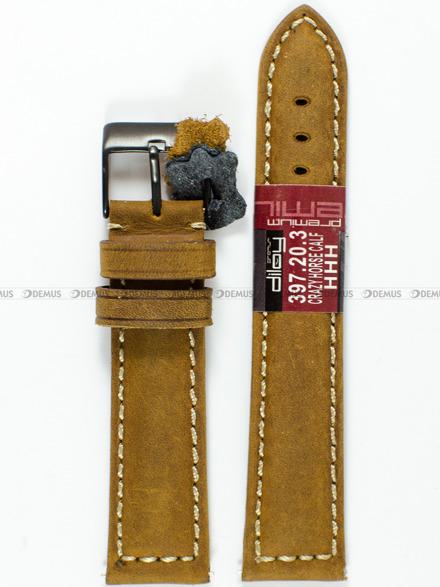 Pasek skórzany do zegarka - Diloy 397.20.3 - 20 mm