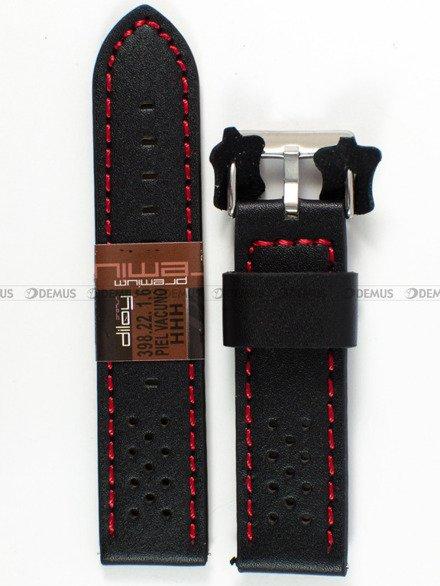 Pasek skórzany do zegarka - Diloy 398.22.1.6 - 22 mm