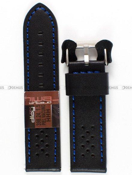 Pasek skórzany do zegarka - Diloy 398.24.1.5 - 24 mm