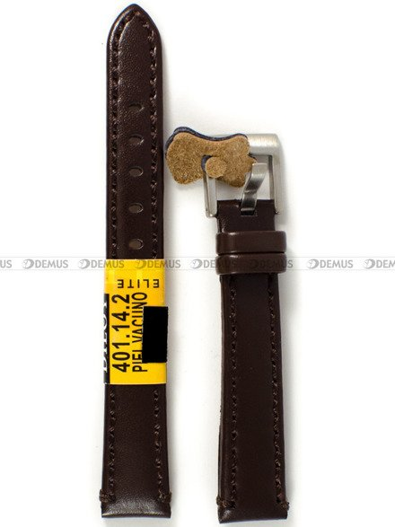 Pasek skórzany do zegarka - Diloy 401.14.2 - 14 mm