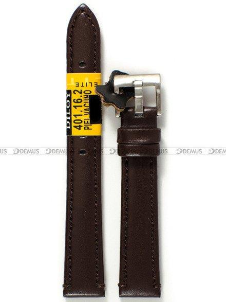 Pasek skórzany do zegarka - Diloy 401.16.2 - 16 mm