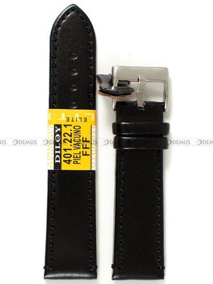 Pasek skórzany do zegarka - Diloy 401.22.1 - 22 mm