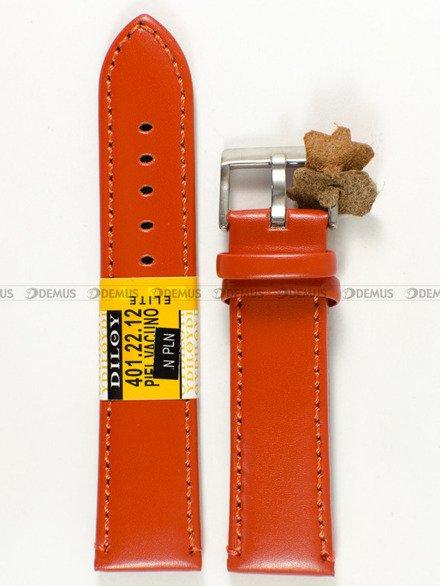 Pasek skórzany do zegarka - Diloy 401.22.12 - 22 mm