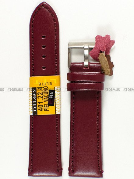 Pasek skórzany do zegarka - Diloy 401.22.4 - 22 mm
