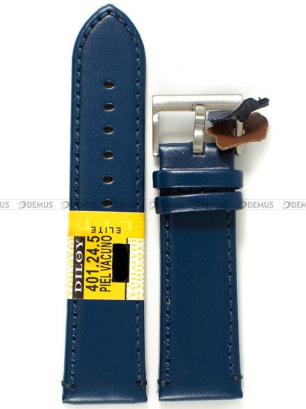 Pasek skórzany do zegarka - Diloy 401.24.5 - 24 mm