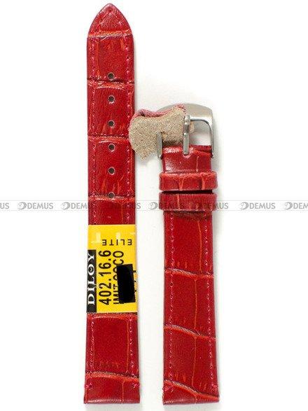 Pasek skórzany do zegarka - Diloy 402.16.6 - 16 mm