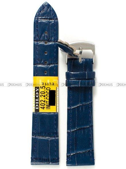 Pasek skórzany do zegarka - Diloy 402.20.5 - 20 mm