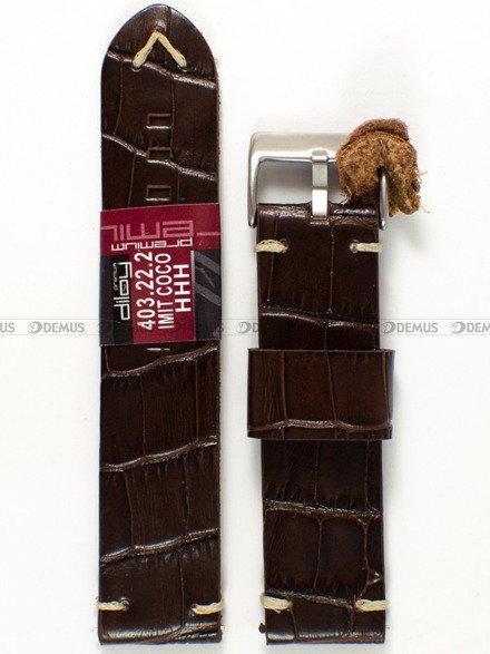 Pasek skórzany do zegarka - Diloy 403.22.2 - 22 mm