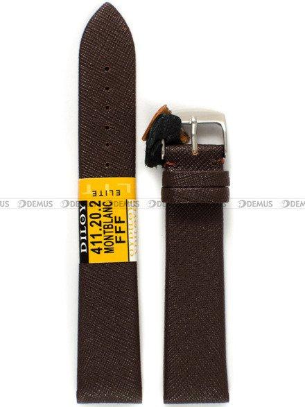 Pasek skórzany do zegarka - Diloy 411.20.2 - 20 mm