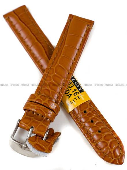 Pasek skórzany do zegarka - Diloy 412.16.3 - 16 mm