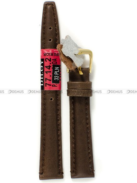 Pasek skórzany do zegarka - Diloy 77.14.2 - 14 mm