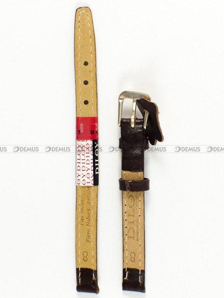 Pasek skórzany do zegarka - Diloy 77.8.2 - 8 mm