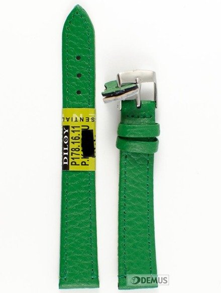 Pasek skórzany do zegarka - Diloy P178.16.11 - 16 mm