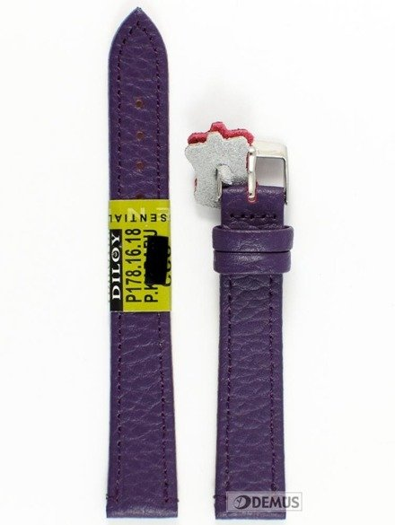 Pasek skórzany do zegarka - Diloy P178.16.18 - 16 mm