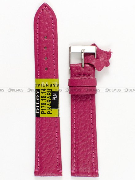 Pasek skórzany do zegarka - Diloy P178.18.14 - 18 mm