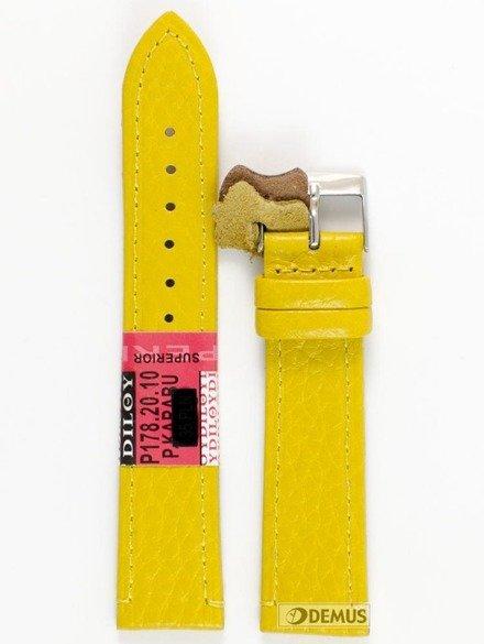 Pasek skórzany do zegarka - Diloy P178.20.10 - 20 mm