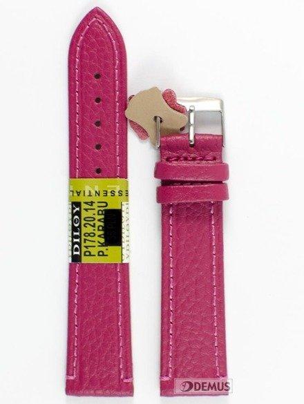 Pasek skórzany do zegarka - Diloy P178.20.14 - 20 mm