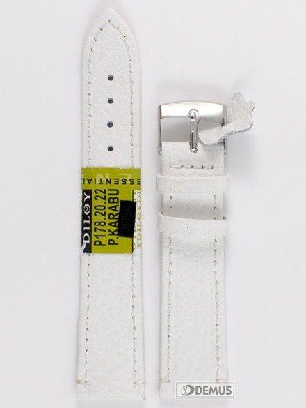 Pasek skórzany do zegarka - Diloy P178.20.22 - 20 mm