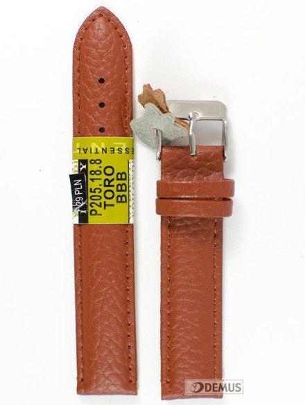 Pasek skórzany do zegarka - Diloy P205.18.8 - 18mm