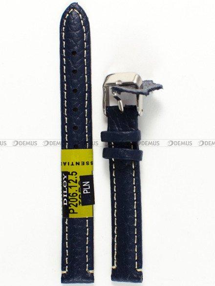 Pasek skórzany do zegarka - Diloy P206.12.5 - 12 mm