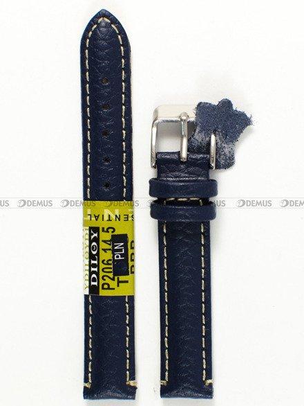 Pasek skórzany do zegarka - Diloy P206.14.5 - 14 mm