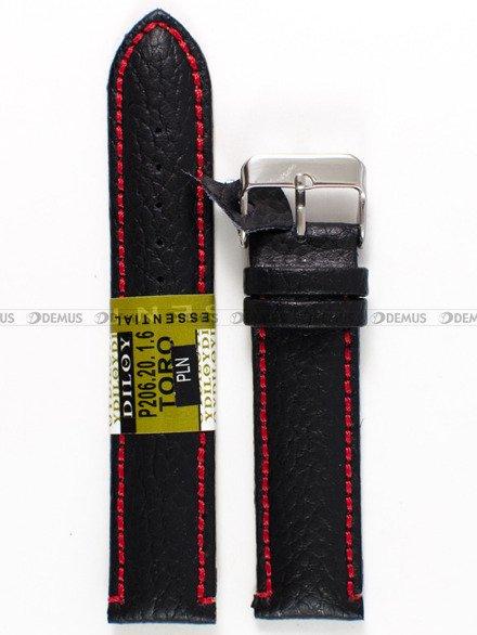 Pasek skórzany do zegarka - Diloy P206.20.1.6 - 20 mm