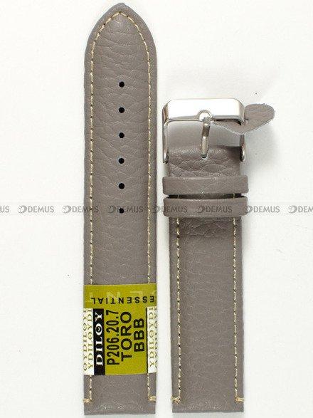 Pasek skórzany do zegarka - Diloy P206.20.7 - 20 mm