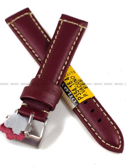 Pasek skórzany do zegarka - Diloy P354.18.4 - 18 mm