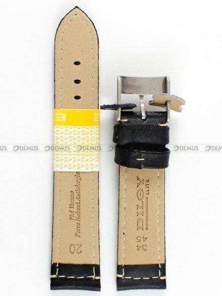 Pasek skórzany do zegarka - Diloy P354.20.1 - 20mm