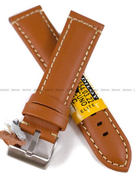Pasek skórzany do zegarka - Diloy P354.22.3 - 22mm