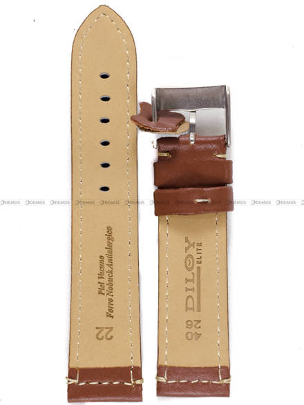 Pasek skórzany do zegarka - Diloy P354.22.8 - 22mm