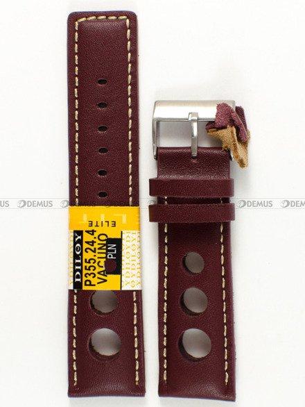 Pasek skórzany do zegarka - Diloy P355.24.4 - 24 mm
