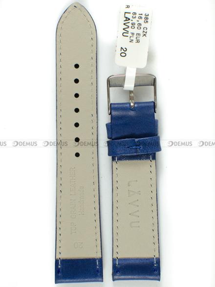 Pasek skórzany do zegarka - LAVVU LSAUL20 - 20 mm