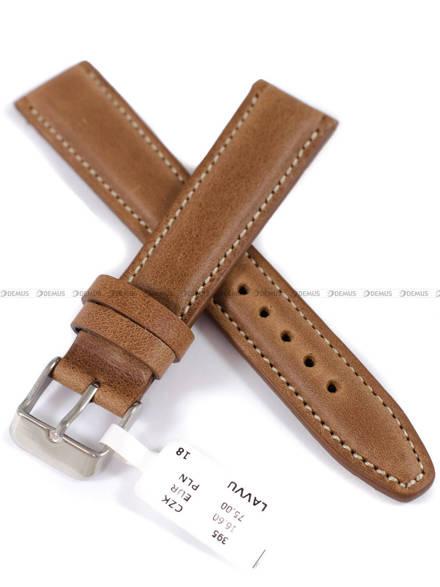 Pasek skórzany do zegarka - LAVVU LSKUE18 - 18 mm