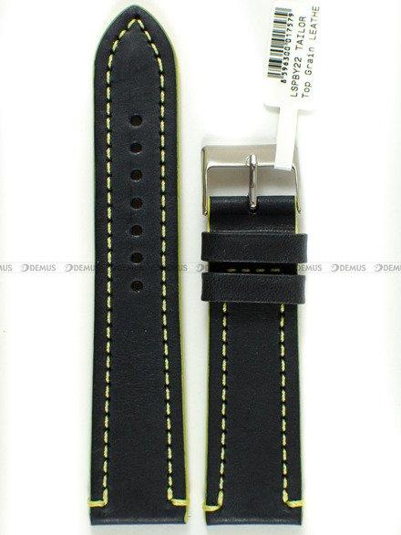 Pasek skórzany do zegarka - LAVVU LSPBY22 - 22 mm
