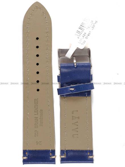 Pasek skórzany do zegarka - LAVVU LSPLA24 - 24 mm