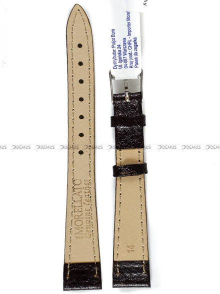 Pasek skórzany do zegarka - Morellato A01D0753333034CR14 - 14 mm