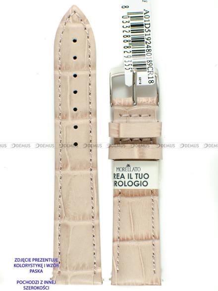 Pasek skórzany do zegarka - Morellato A01D5192480189CR20 - 20 mm