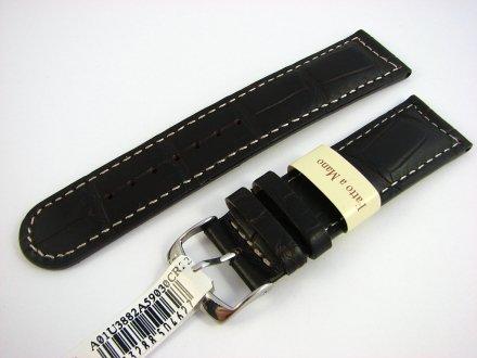 Pasek skórzany do zegarka - Morellato A01U3882A59030 22mm