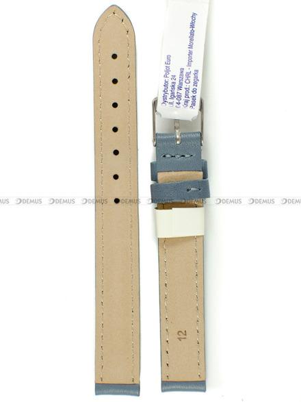 Pasek skórzany do zegarka - Morellato A01X0969087093CR12 - 12 mm