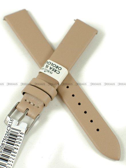 Pasek skórzany do zegarka - Morellato A01X5200875026CR16 - 16 mm
