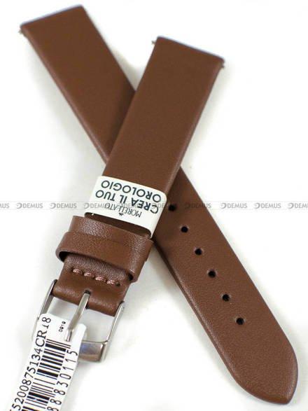Pasek skórzany do zegarka - Morellato A01X5200875134CR18 - 18 mm