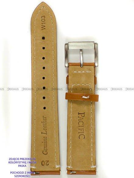 Pasek skórzany do zegarka - Pacific W103.22.3.7 - 22 mm