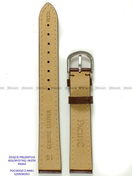 Pasek skórzany do zegarka - Pacific W33L.20.2.2 - 20 mm