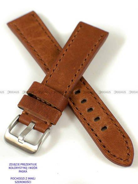 Pasek skórzany do zegarka - Pacific W48.24.3.3 - 24 mm