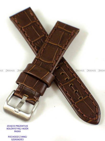 Pasek skórzany do zegarka - Pacific W49.24.2.2 - 24 mm